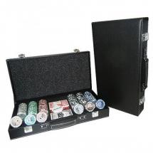 Покер, набор, 300 фишек, номинал, кожа