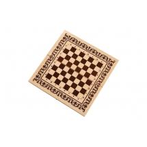 Шахматы 3 в 1 малые (греческий орнамент)