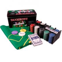 Покер, набор, 200 фишек, жест. короб, сукно