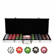 Покер, набор Royal Flush, 500 фишек