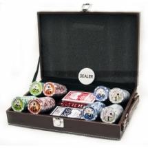 Покер, набор, 200 фишек, номинал, кожа