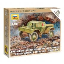 """Миниатюра Британский бронеавтомобиль """"Даймлер"""" МК-1"""