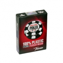 "Карты ""Fournier WSOP"" 100% пластик, красная рубашка"