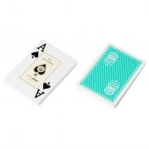 """Карты для покера """"Fournier Club Monaco"""" 100% пластик, Испания, зеленые"""