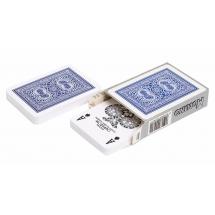 """Карты для покера """"Modiano Old Trophy"""" 100% пластик, Италия, синяя рубашка"""