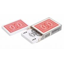 """Карты для покера """"Modiano Old Trophy"""" 100% пластик, Италия, красная рубашка"""
