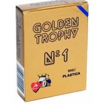 """Карты для покера """"Modiano Golden Trophy"""" 100% пластик, Италия, синяя рубашка"""