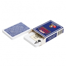 """Карты для покера """"Modiano Texas Poker"""" 100% пластик, Италия, синяя рубашка"""