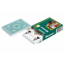 "Карты для покера ""Modiano Poker"" 100% пластик, Италия, зеленая рубашка"