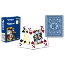 """Карты для покера """"Modiano Poker"""" 100% пластик, Италия, синяя рубашка"""