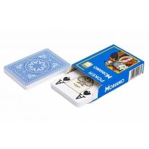 "Карты для покера ""Modiano Poker"" 100% пластик, Италия, голубая рубашка"
