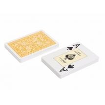 """Карты """"Fournier 2818"""" 100% пластик, желтая рубашка"""
