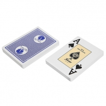 """Карты """"Fournier 2818 Casino Victoria"""", 100% пластик, синяя рубашка"""