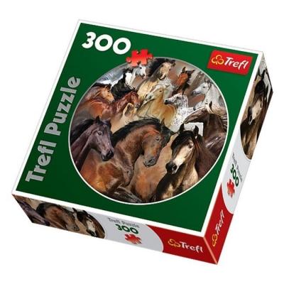 Пазл Лошади-круглые, 300 деталей
