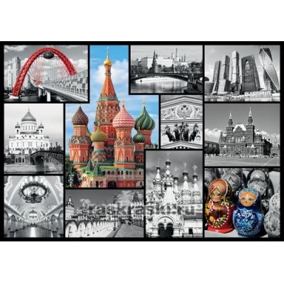 Пазл Москва-коллаж, 1000 деталей