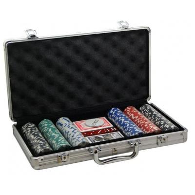 Покер, набор, металл 300 фишек