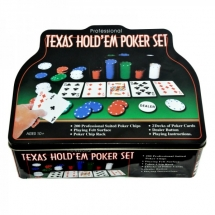 Покер, набор, 200 фишек Texas Holdem, жест. короб, сукно