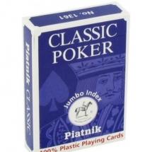 Покер, карты Пиатник пластиковые лиловые