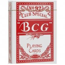 Карты игральные, красные, BCG