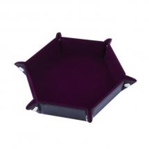 Тарелка для кубиков шестиугольная Бордовый бархат